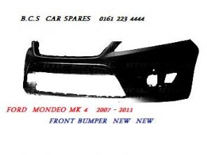 FORD MONDEO  MK 4  FRONT BUMPER  ( PARKING SENSORS TYPE )     2007 - 2008 - 2009 2010  NEW  NEW